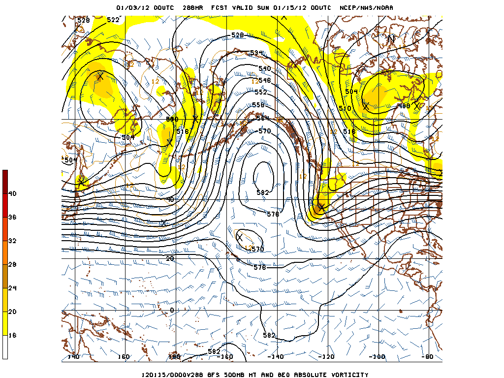 Day 12 GFS, 500 mb heights