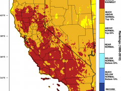 Hot, dry summer continues in California; severe fire season looms; El Niño update