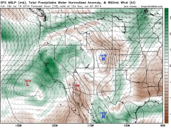 Update on the North American Monsoon and active California summer weather